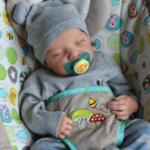 "Geoff: 22"" Partial Vinyl Sleeping Real Infant Doll Boy"